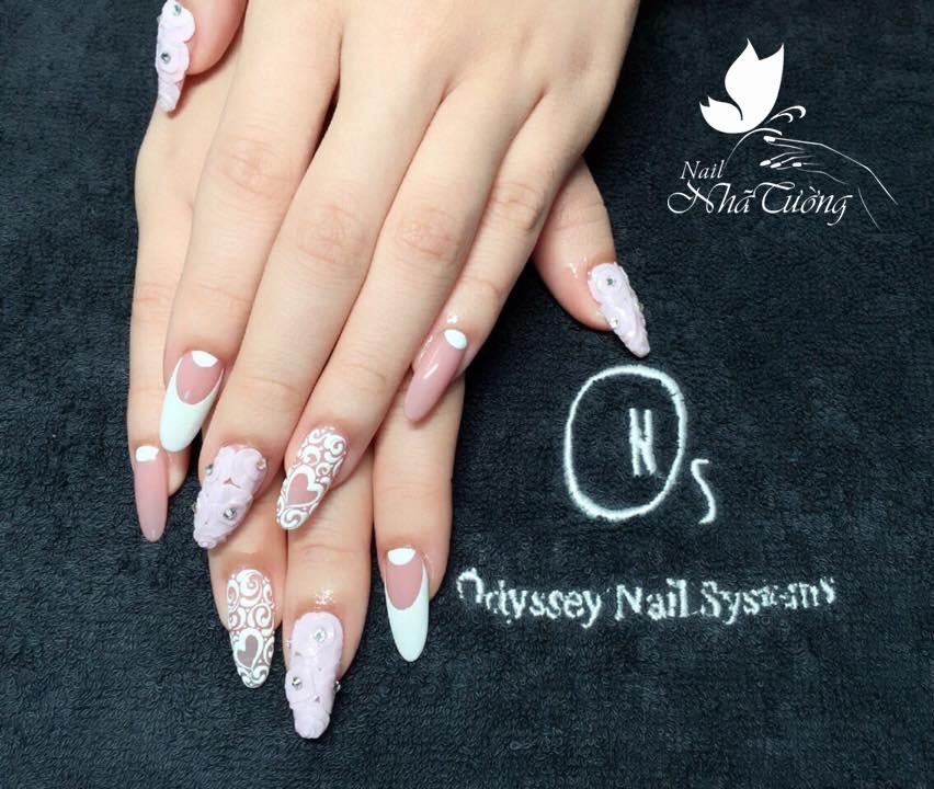 Hướng dẫn đắp bột nail Pink & White