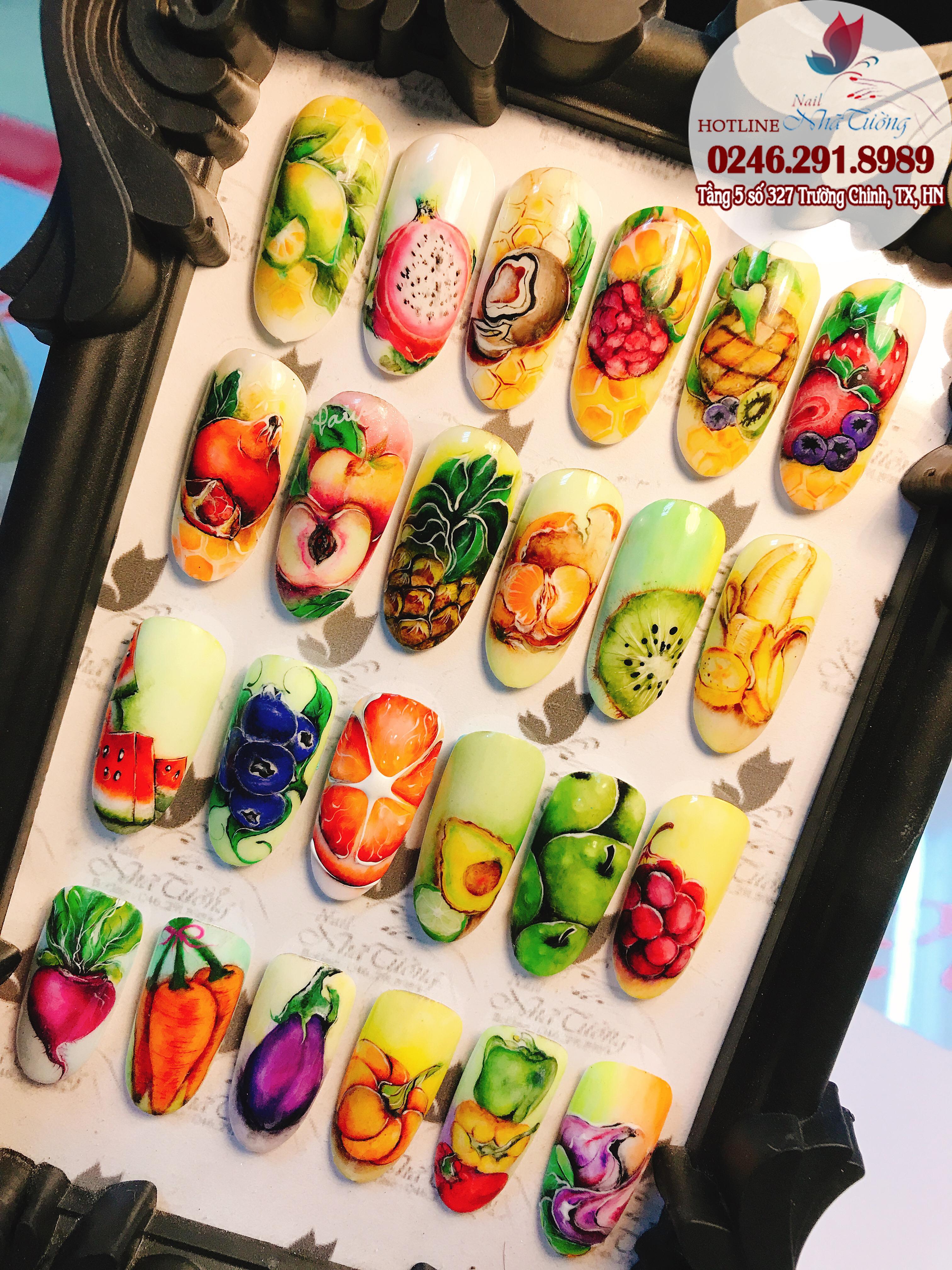 Dạy học nail chuyên nghiệp – Lớp học vẽ hoa quả