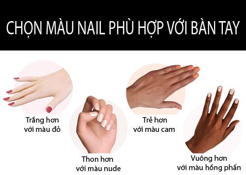 Cách chọn màu sơn móng tay phù hợp với màu da